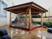 谷地頭温泉の露天風呂