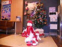 ロビーのクリスマス