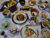 【満月コース13品】部屋食OK♪至福の味、福島牛に舌鼓プランの料理一例