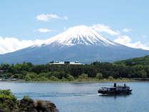 【初夏】河口湖対岸からの富士山の眺め