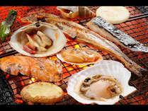【提携プラン夕食】旬の新鮮な魚介類を炭火焼でお召し上がり下さいませ。