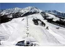 パウダースノーのたざわ湖スキー場まで車で約10分ほど