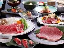 【飛騨牛プレミアム会席】飛騨牛の質と量にこだわった味わいを(一例)