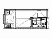 スタンダード・シングル【15平米,BED:120×195】