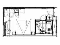 デラックス・ダブル【22平米,BED:180×195】