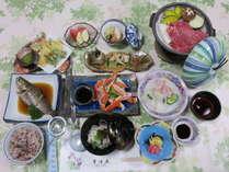 手作りのお料理は家庭的&美味!(夕食一例)