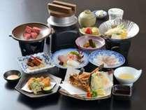 料理写真【厳島】広島牛の石焼き桜鯛のしゃぶしゃぶ等海の物、山の物どうぞお楽しみください。
