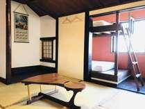 ●2名〜4名様個室●布団2組またはバンクベッドのご利用が可能。最大4名様まで。