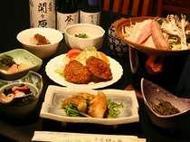 関ヶ原の夕食はボリューム満点!!地元野菜を使った家庭的な料理(一例)