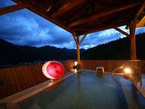 鳴子温泉を見晴らす最上階『天馬・露天風呂』