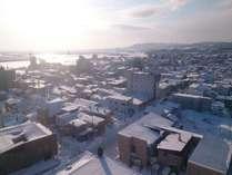 紋別の冬の代名詞『流氷』と朝日を客室からはこんな風に見れます(2)