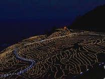 世界農業遺産「白米の千枚田」期間限定ライトアップ「あぜのきらめき」♪