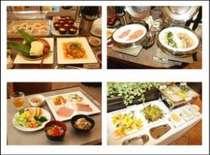 朝食は健康的な沖縄料理が中心です。