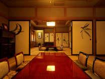 特別室『蝶の間』はお風呂も近く、ご家族、グループ様向けのお部屋。法事にも使えます。