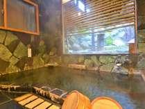 女湯*内湯 源泉かけ流しの温泉内湯の他に、露天風呂もございます