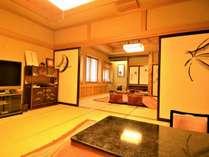 特別室『蝶の間』は10畳+15畳の2間構成。芸術を目の前で堪能できる唯一の部屋