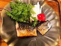 越田商店の鯖!朝食での鮭からの変更も可能(別途300円)絶妙な焼き加減