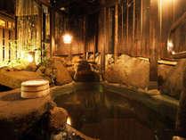 男性*露天 単純泉100%の熱めの湯は湯上りはさっぱりと肌がツルツルになると好評です。