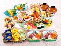 龍馬をイメージして創作した土佐の郷土料理「皿鉢(さわち)料理」。