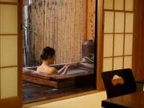 にごり湯の露天付客室・・誰にも邪魔されずに、ふたりきりで温泉を満喫♪