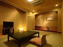 露天風呂付き客室「せきれい」・・・シンプルな造りは落ち着いた佇まいです。