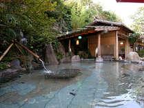 露天風呂湯乃禅…かぐや姫の湯(竹の産地ならでは!数種の竹を配した解放感たっぷりの露天風呂です)