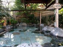 露天風呂湯乃禅…かっぱ風呂(お湯は少しぬるめなのでゆっくり入ってリラックス効果を高めましょう)