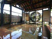 露天風呂湯乃禅…水車風呂(ぶくぶくと下から気泡が出てマッサージ気分を味わえます)