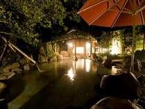 露天風呂湯乃禅・・・かぐや姫の湯(竹の産地」ならではの多くの竹を配したお風呂です)