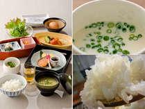 こだわりの手作り豆腐、特製しょうがジュースは特におススメの朝食です
