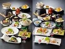 <秋冬版>お肉系会席かお魚系会席かお好みで選べる当館一番人気のプランです。