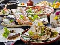 <秋冬版>質重視会席プラン。旬の極上食材●伊勢海老、佐賀牛、鮑、松茸ほか●を使用。