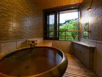 ≪客室展望風呂‐かすみ‐≫ 展望、露天風呂があるお部屋の中で、ゆったりと湯あみのひととき