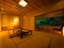 ◆露天風呂つき貴賓室 ◆ ‐せきれい‐ 檜の半露天風呂がついた極上の寛ぎ空間