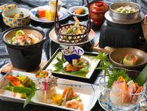 ◆料理グレードUP会席-海の幸メイン-◆ 山で海の幸がいただけるのが当館の魅力!
