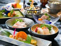 ◆基本会席◆ とれたて地産の食材をふんだんに使い、『旬の味わい』をご堪能いただきます