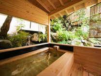 ◆‐福智‐客室露天風呂◆ 季節で趣が変わる庭園の中にあり、季節を肌で感じながら入浴いただけます
