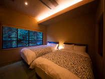 ◆露天風呂つき和洋室 ◆ ‐せきれい‐ 寝心地の良いゆったりベッドでごゆっくりお寛ぎください