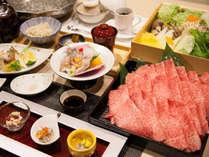 吉備高原や岡山県内の食材を贅沢に使用した【しゃぶ鍋料理】をどうぞ。