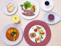 【夕食】ジビエと夏野菜のコース(一例)