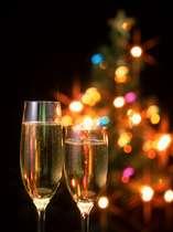 聖なる夜にはシャンパンが似合います。