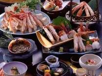 ◆活松葉蟹を1枚使用◆質・量ともに納得のかに三昧会席『特選』