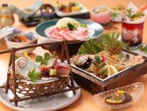 【部屋食選択可】◆地の物会席◆迷ったらこれ!◆海の幸も鳥取和牛も楽しめる当館一番人気プラン