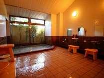 【大浴場】。朝6時~チェックアウト、チェックイン~夜23時まで好きな時に何度でもお入りください。