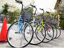 城崎の街中巡りにあれば便利な自転車!当館はレンタサイクル無料♪2017年春に納品したピカピカ5台!
