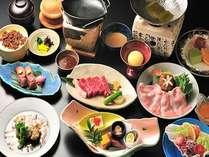 牛肉、豚肉、鶏肉など肉料理ばかりの会席料理をお愉しみください。