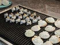 浜島のさざえやあっぱ貝も焼きたてを食べ放題!