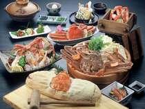メインのお料理に全て活けブランド松葉ガニ使用!のフルコース