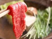 牛しゃぶ鍋の一例