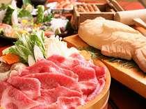 地魚かまくらは大きさにより2~5名様で1枚。牛しゃぶ鍋材料は2人前。